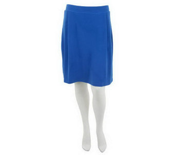 """As Is"" Susan Graver Solid Liquid Knit Pull-on Skort with Pleats - A240061"