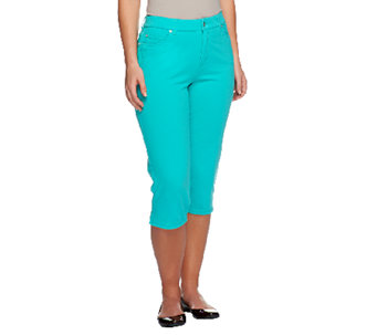"Denim & Co. ""How Comfy"" 5-Pocket Jean Capris - A251361"