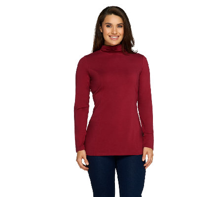 Liz Claiborne New York Essentials Mock Neck Top