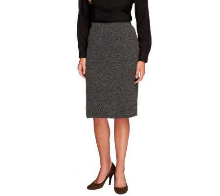 Liz Claiborne New York Petite Textured Ponte Knit Skirt