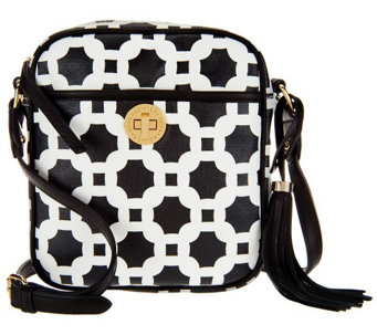 """As Is"" Isaac Mizrahi Live! Bridgehampton Printed Canvas Crossbody Bag - A257261"