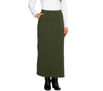 Denim & Co. French Terry Maxi Skirt with Pockets - A257461