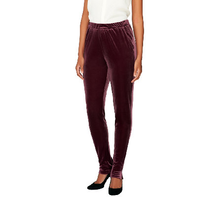 Edge by Jen Rade Regular Slim Leg Velvet Pants