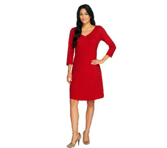 Isaac Mizrahi Live! Essentials Knit Dress with Seaming Detail - A258661