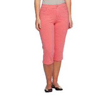 """As Is"" Denim & Co. ""How Comfy"" 5 Pocket Capri Jeans - A259861"