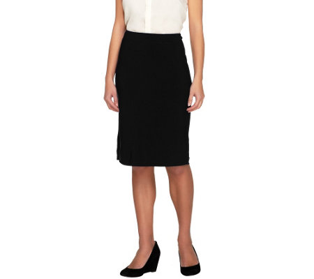Joan Rivers Luxe Knit Pull-on Slim  Skirt