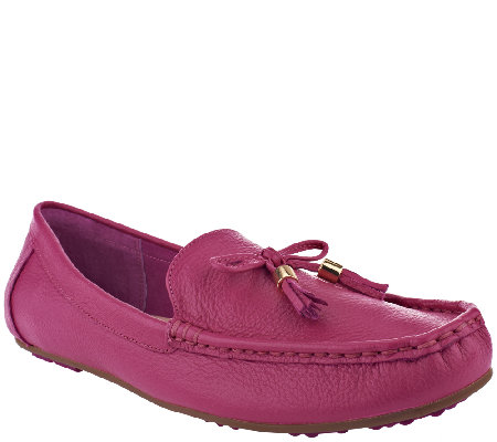 """As Is"" Isaac Mizrahi Live! Pebble Leather Moccasins"