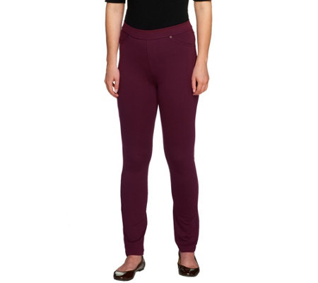 """As Is"" Susan Graver Petite French Knit Jeggings"