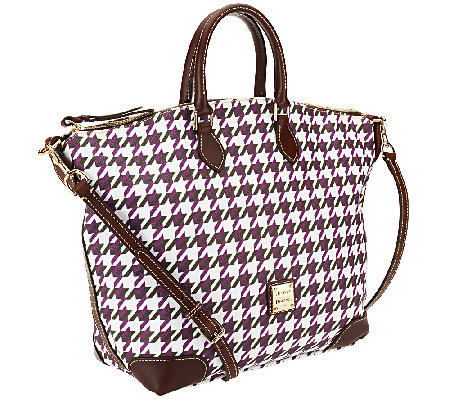 Dooney & Bourke Houndstooth Domed Satchel