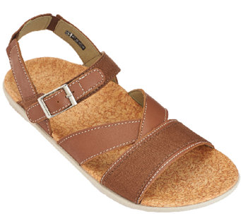 Spenco Leather Orthotic Quarter Strap Sandals -Ashley - A265061