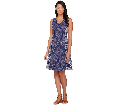 Isaac Mizrahi Live! Bandana Print Knit Dress