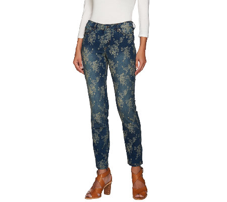 Women with Control My Wonder Denim Floral Jacquard Jeans