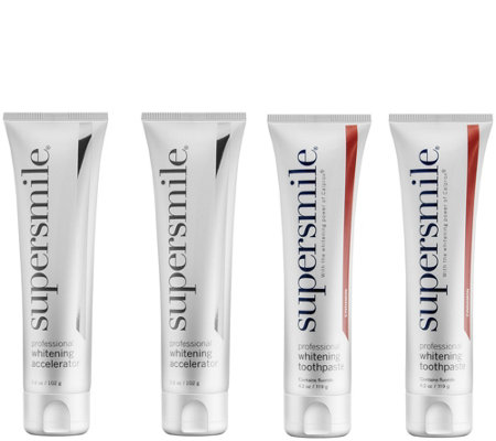Supersmile 4 piece Teeth Whitening Toothpaste Set Auto-Delivery