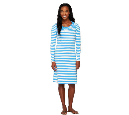 """As Is"" Liz Claiborne New York Bateau Neck Striped Dress"