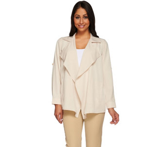 Joan Rivers Silky Drape Front Jacket - A273761