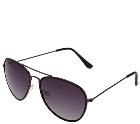 H by Halston Polarized Aviator Sunglasses w/ Two Tone Frame