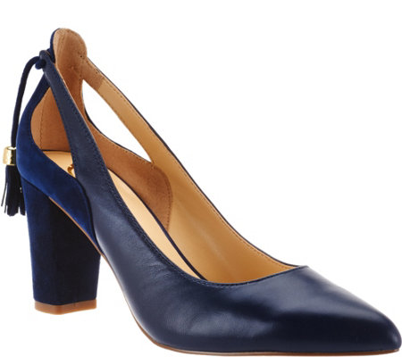 C. Wonder Leather and Suede Pumps w/ Tassels - Charlotte