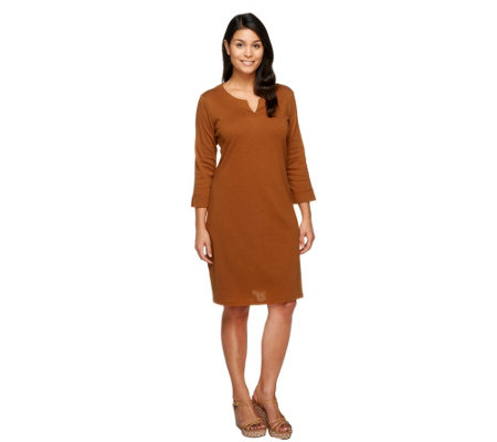 """As Is"" Liz Claiborne New York Essentials Split Neck Knit Dress"