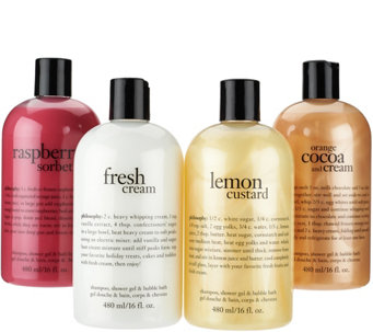 philosophy 4-piece sweet & creamy shower gel set - A277261