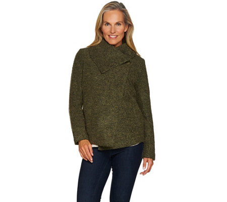 Lisa Rinna Collection Boucle Shawl Collar Jacket