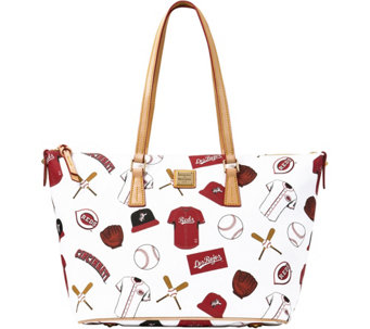 Dooney & Bourke MLB Reds Zip Top Shopper - A280061