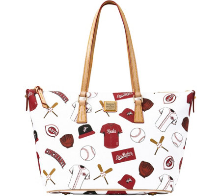 Dooney & Bourke MLB Reds Zip Top Shopper