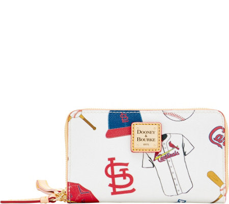 Dooney & Bourke MLB Cardinals Zip Around Phone Wristlet