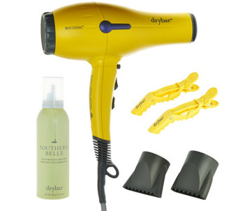 Drybar Buttercup Hair Dryer w/ Volumizing Mousse & Clips - A282761