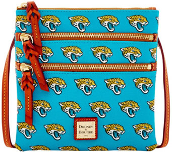 Dooney & Bourke NFL Jaguars Triple Zip Crossbody - A285661