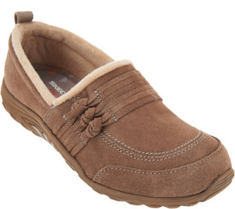 Skechers Suede Knotted Slip-on Shoes - Reggae Fest Loungy - A287061