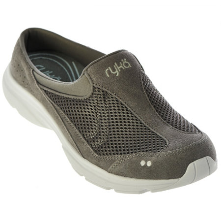 """As Is"" Ryka Sneaker Mules - Tranquil"