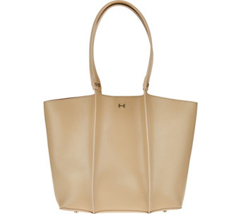 """As Is"" H by Halston Double Face Shoulder Tote Handbag - A290661"