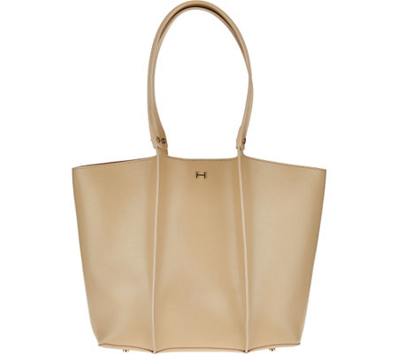 """As Is"" H by Halston Double Face Shoulder Tote Handbag"