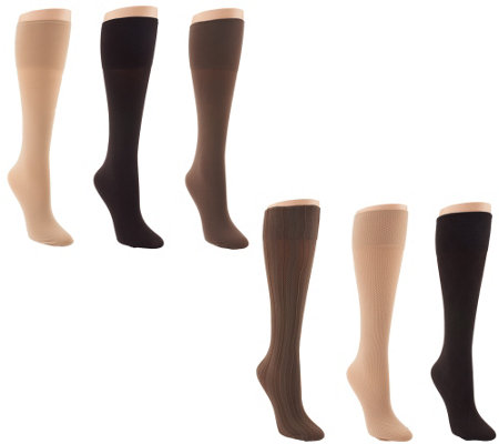 """As Is"" Legacy Set of 6 Signature Trouser Socks"