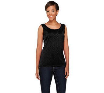 """As Is"" Joan Rivers Textured Knit Tank - A292661"