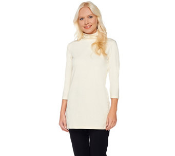 """As Is"" Women with Control Regular Long & Lean 3/4 Sleeve Tunic - A293961"