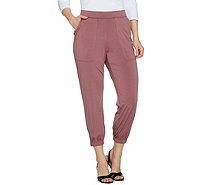 """As Is"" Lisa Rinna Collection Reg. Banded Bottom Knit Crop Pants - A297061"
