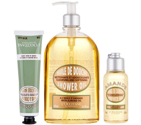 L'Occitane Almond Shower Gel & Hand Cream 3-pc. Set