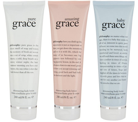 philosophy shimmering state of grace 3 piece lotion kit