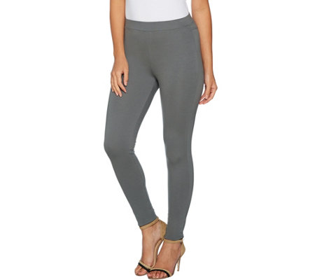 """As Is"" Women with Control Regular Pull-On Ponte Royale Leggings"