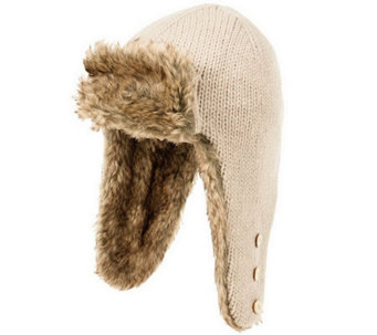 Nirvanna Designs Russian Earflap with Faux Furand Buttons - A331061