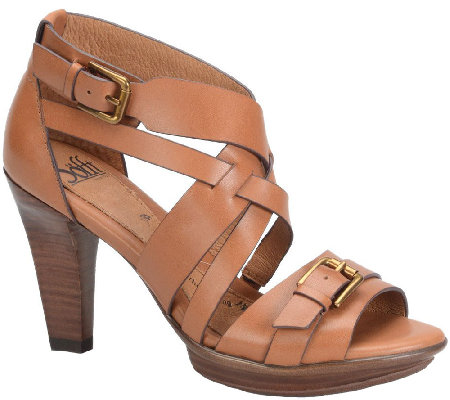 Sofft Leather Platform Sandals - Rae