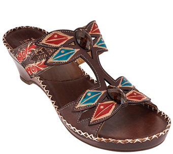 Spring Step L'Artiste Leather Wedge Sandals - Sorriso - A336061