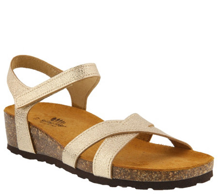Spring Step Leather Sandals - Illian