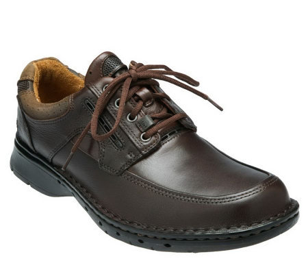 Clarks Men's Unstructured Un.Bend Leather LaceUp Shoes