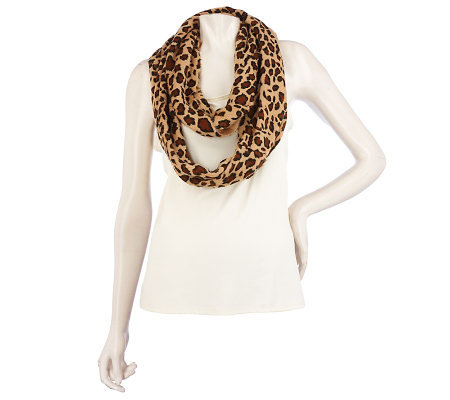 Joan Rivers Animal Print Infinity Scarf