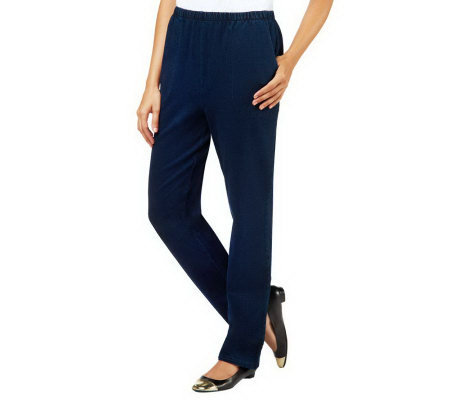 Denim & Co. Regular Pull-On Side Pocket Jeans
