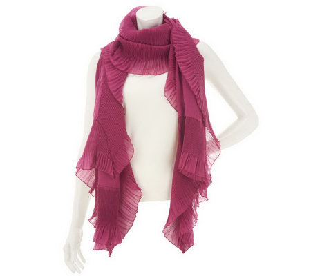 Isaac Mizrahi Live! Accordion Pleated Ruffle Scarf