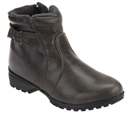 Weatherproof Phyllis Ankle Boots with Faux Fur Lining