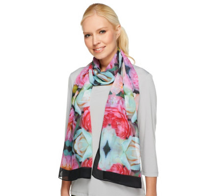 Joan Rivers Garden of Roses Chiffon Scarf